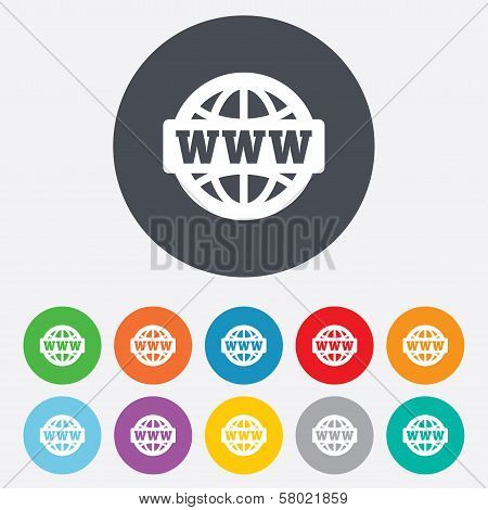 WWW sign icon. World wide web symbol.