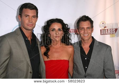 Jeff Lewis with Jenni Pulos and Ryan Brown  at the Fox Reality Channel Awards. Avalon Hollywood, Hollywood, CA. 09-24-08