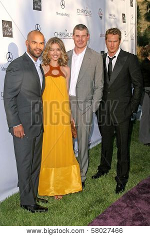 Amaury Nolasco and Rebecca Gayheart with Eric Dane and Jason Lewis  at the 7th Annual Chrysalis Butterfly Ball. Private Residence, Los Angeles, CA. 05-31-08