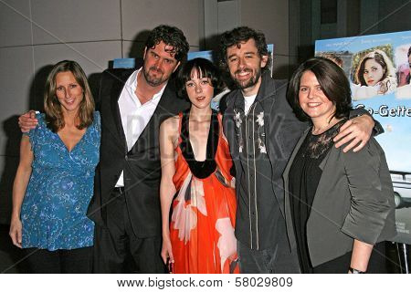 L-R Lori Christopher, Larry Furlong, Jena Malone, Martin Hynes and Lucy Barzun Donnelly  at the Los Angeles Premiere of