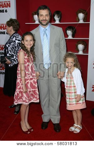 Judd Apatow with daughters Maude and Iris  at the