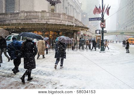 Snowy Grand Central
