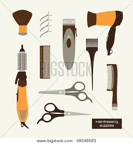 Hairdressing supplies Vector Illustracion