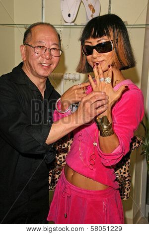 Bai Ling Modeling jewelry by Charlene K  at the Dans Sara, Leezee Fabulous Shoes and Swing Cologne Gifting Suite. LA Fashion Market, Los Angeles, CA. 06-13-08