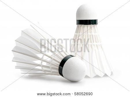 Badminton Shuttlecocks Isolated on a White Background
