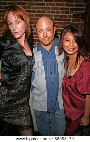 Jenny Mcshane with Kyle T. Heffner and Serena Guam  at the party celebrating the opening night of the play