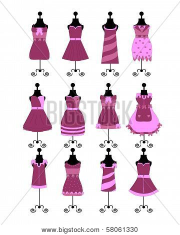 fashion dresses and hats