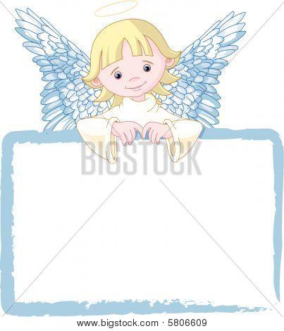 Cute Angel Invite & Place Card