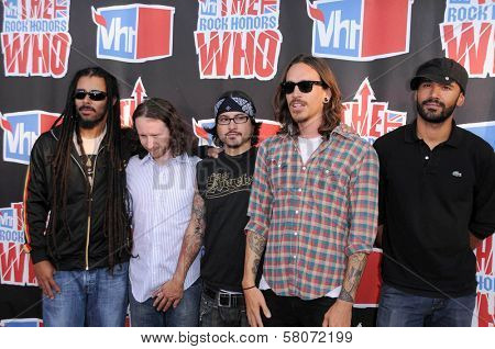 Incubus  at the 2008 VH1 Rock Honors The Who. Pauley Pavilion, UCLA, Westwood, CA. 07-12-08