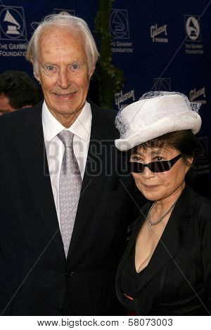 George Martin and Yoko Ono  at the Grammy Foundation's Starry Night Gala. University of Southern California, Los Angeles, CA. 07-12-08