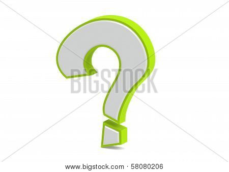 Question mark in green