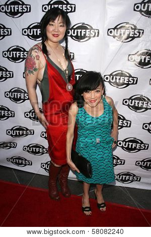 Margaret Cho and Selene Luna  at the Premiere Screening of