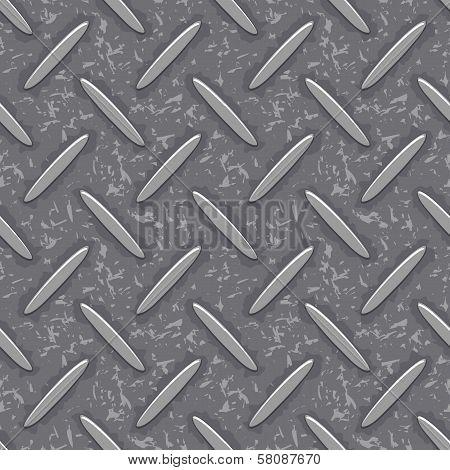 seamless steel diamond plate grunge texture