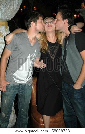 Drew Seeley with Jennifer Leeser and Brandon Slavinski  at the Birthday Party for Jennifer Leeser. Medusa Lounge, Los Angeles, CA. 09-25-08