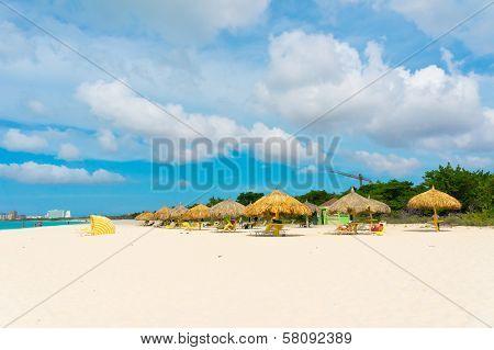 Beautiful Beach In Aruba, Caribbean Islands, Lesser Antilles