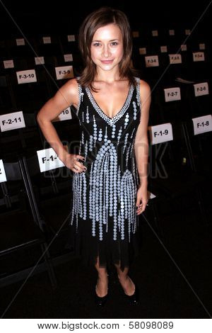 Olesya Rulin at day one of the 2007 Mercedes Benz Fashion Week. Smashbox Studios, Culver City, CA. 10-14-07