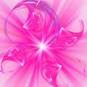 Abstract elegance background. Purple - white palette. Raster fractal graphics. poster