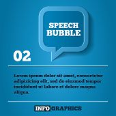 Speech bubble step background. For infographics. Vector illustration template. Abstract 3d geometrical design. poster
