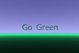 Go Green Text Centered