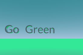 Go Green Text To Left