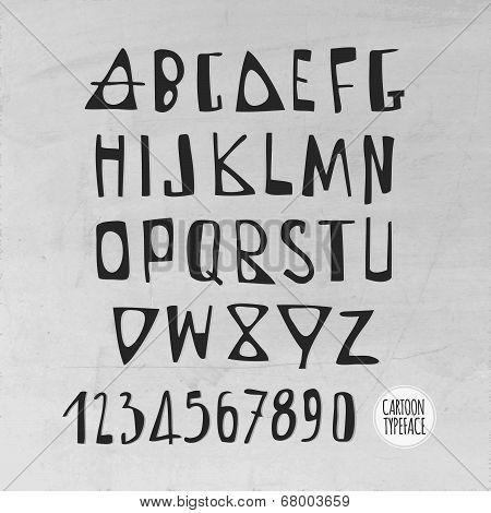 Hand Drawn Vector English Alphabet