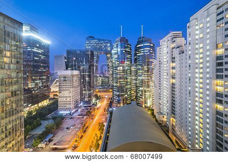 Beijing, China cityscape in the central business district.