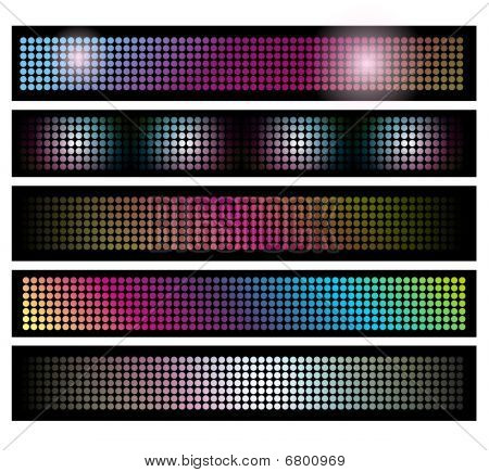 Set Of Led Lights Background Banners
