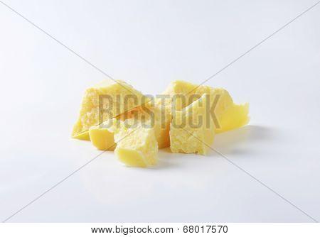 pieces of italian parmesan