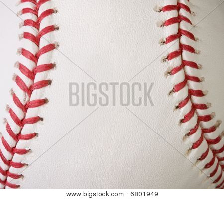 Macro Baseball Seams