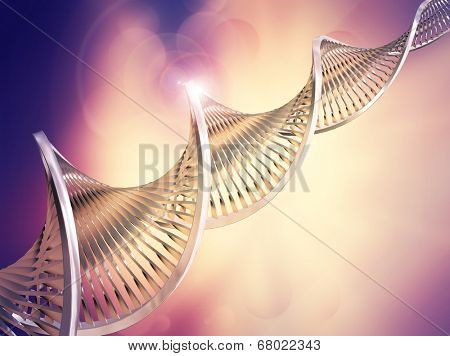 Abstract medical background with DNA strands poster