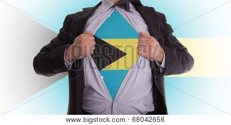 Business Man With Bahama Flag T-shirt