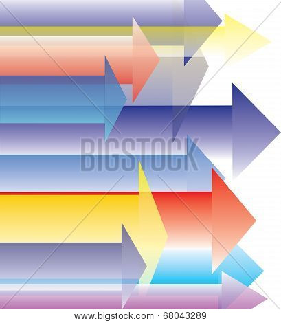 Colorful Arrow Direct Forward Destination