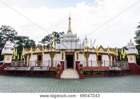 Shan Pagoda In Wat Fah Wiang In, Wianghaeng Chiangmai Thailand poster