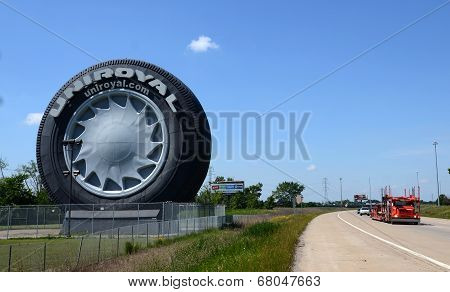 Uniroyal Giant Tire Near Detroit, Mi
