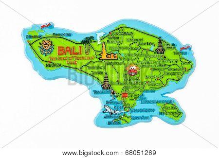 Bali Island Map Figure
