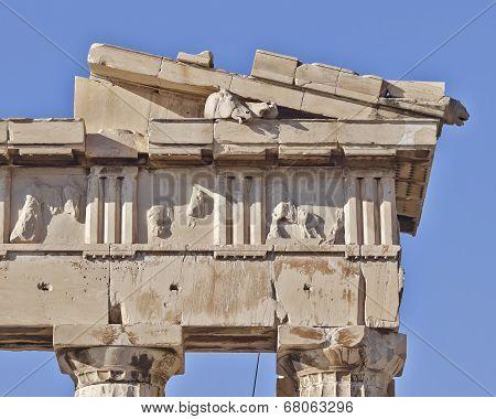 Parthenon west pediment detail, horse head