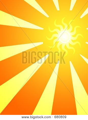 Sun Rays Art