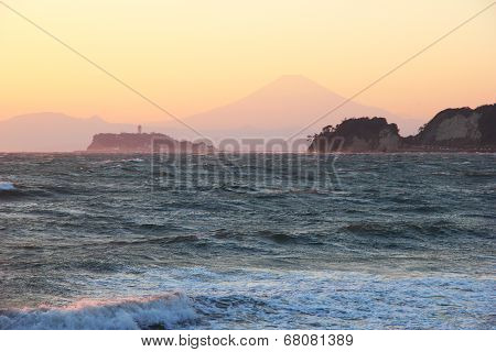 Mount Fuji Silhouette