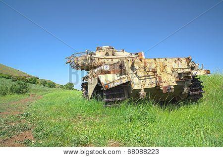 Destroyed Rusty Centurion Shot Kal Tank