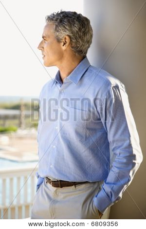 Man Looking Pensive