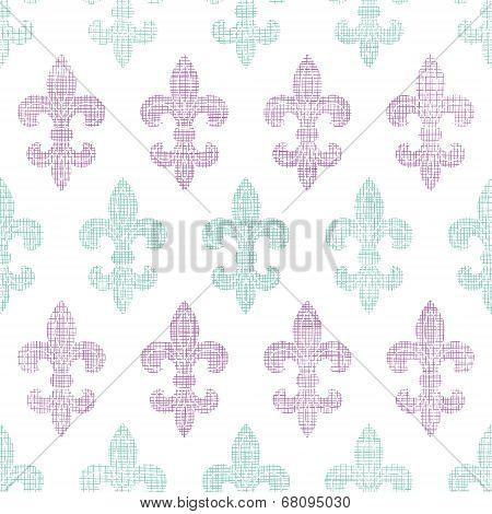 Abstract textile fleur de lis stripes seamless pattern background poster