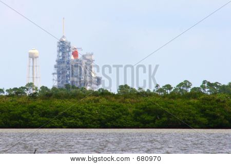 Discovery On Launch Pad