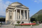 Tempio Voltiano is the most visited museum in Como, Italy. The permanent exhibition is dedicated to the memory of Alessandro Volta and the recognition of his scientific work poster