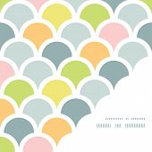 vector abstract colorful fishscale corner frame pattern background poster