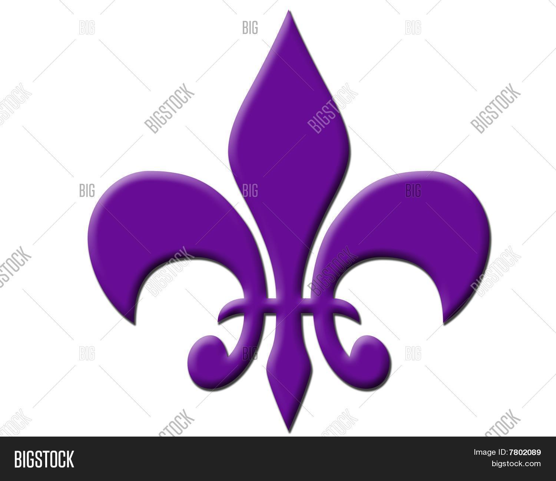 Purple Fleur De Lis Image Photo Free Trial Bigstock