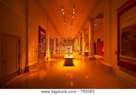 Column, stand & hallway