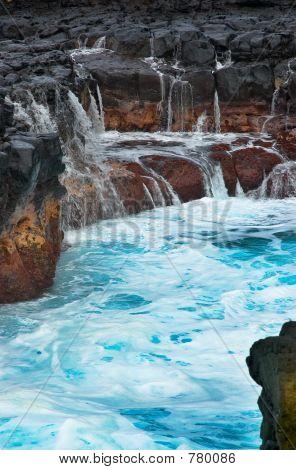Mini waterfalls on Kauai