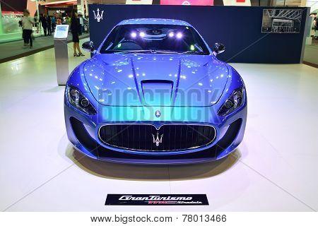 Nonthaburi - December 1: Maserati Granturismo Car Display At Thailand International Motor Expo On De