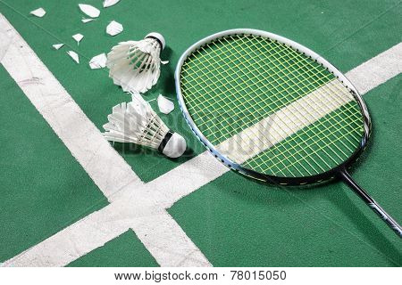 Stock Photo Of Badminton Court