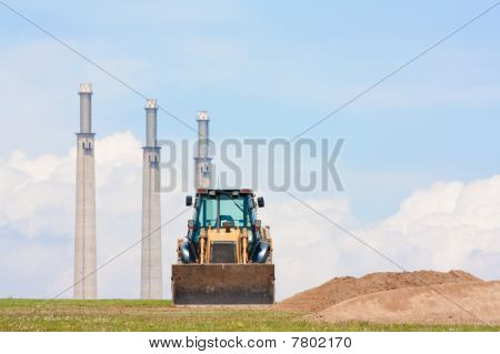Digger And Chimneys (horizontal)